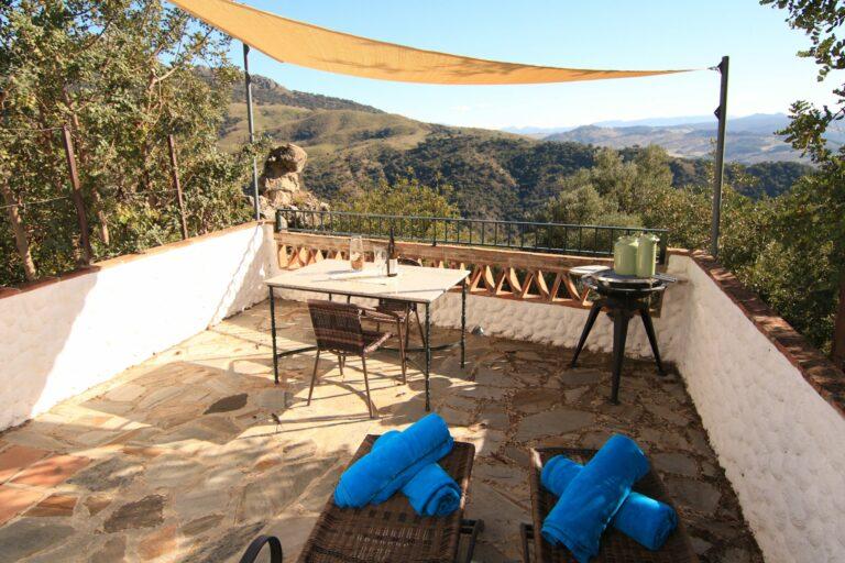 Terrasse avec vue sur l'andalousie
